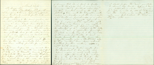 Autograph letter signed, concerning several of his inventions. John Ericsson.