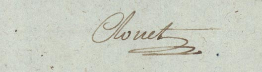 Autograph letter signed to Citoyen [Pepin?] at Charleville. Jean-Francois Clouet.