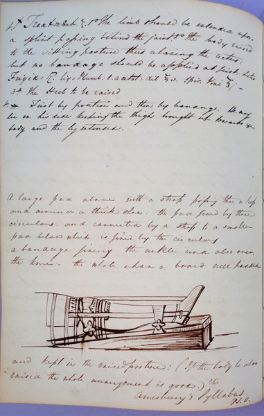 Notes of fractures and dislocations, with drawings. Charles Beevor.