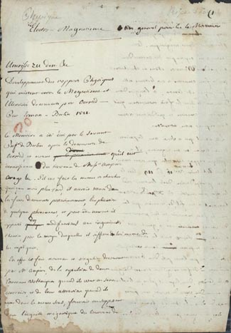 Autograph Manuscript on Oersted's discovery of electro-magnetism. Charles-Gaspard de La Rive.