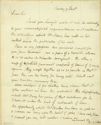 Autograph letter signed to an unidentified correspondent. William A. Cadell.