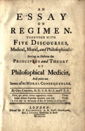 An essay on regimen. Together with five discourses. George Cheyne.