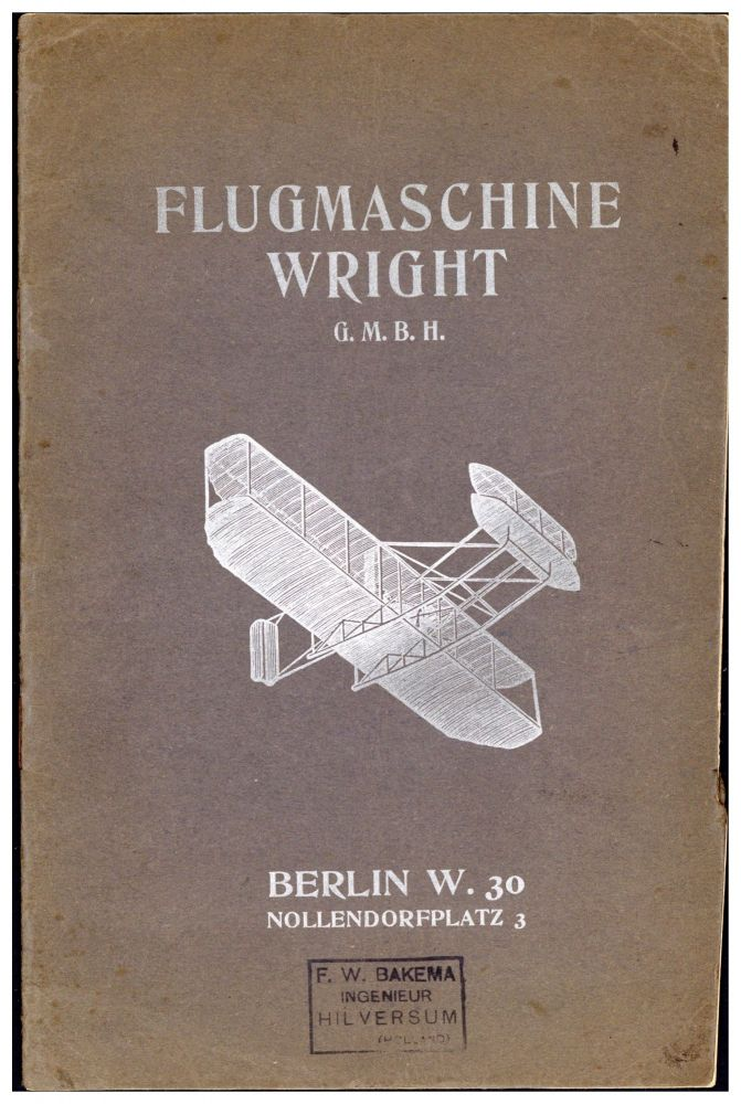 Flugmaschine Wright G.m.b.H. Wright Brothers., Flugmaschine Wright G. m. b. H.