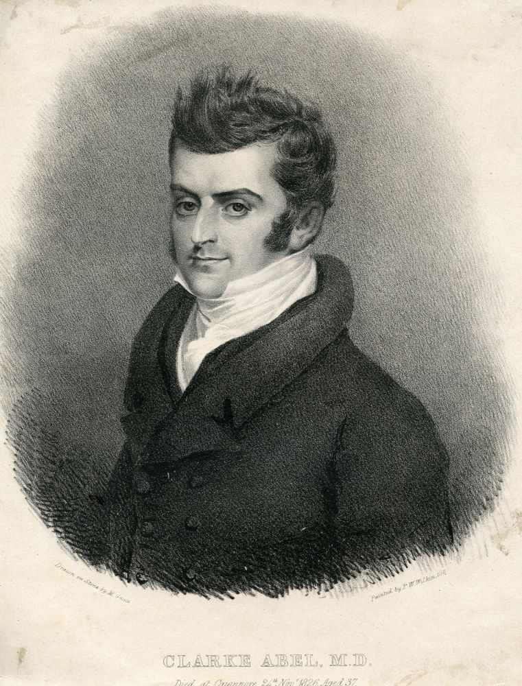 Lithograph Portrait by M. Gauci after P. W. Wilkins. Clarke Abel.