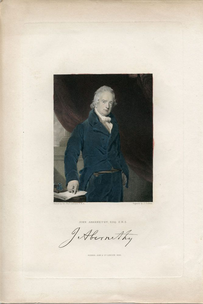 Engraved Portrait by J. Cochran after Thomas Lawrence. John Abernethy.
