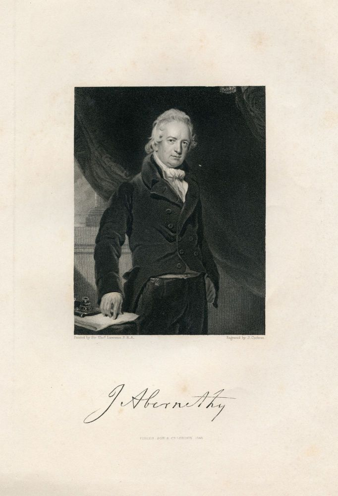 Engraved Portrait by J. Chochran after Thomas Lawrence. John Abernethy.