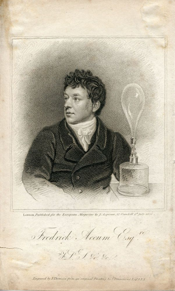 Engraved Portrait by J. Thomson after S. Drummond. Published for the European Magazine. Fredrick Accum.