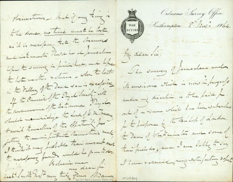 Autograph letter signed to Archibald Smith. Henry James, Col.