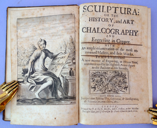 Sculptura: Or the history and art of chalcography and engraving in copper. John Evelyn.
