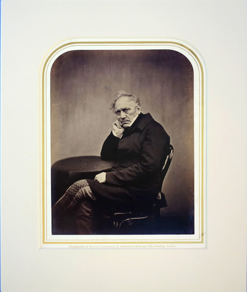 Portrait photo by Maull and Polyblank. Matted. Edward Hodges Bailey.