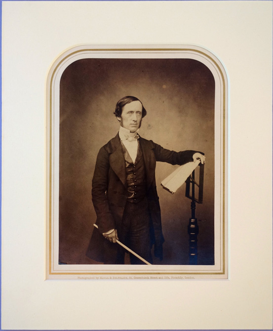 Portrait photo by Maull and Polyblank. Matted. William Sterndale Bennett.