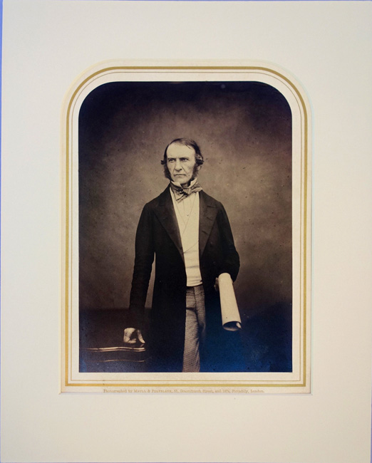 Portrait photo by Maull and Polyblank. Matted. William E. Gladstone.