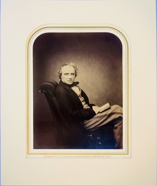 Portrait photo by Maull and Polyblank. Matted. Charles Kean.