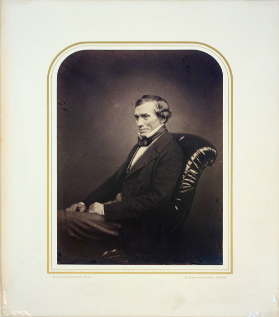 Portrait photo by Maull and Polyblank. Matted. Thomas Graham.