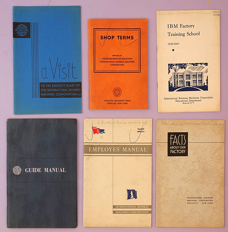 Group of pamphlets issued by IBM's Endicott plant. IBM.