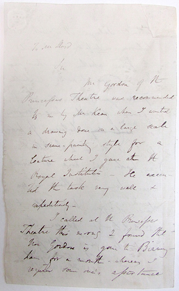 Autograph letter signed to Mr. Lloyd(?). Charles Lyell.