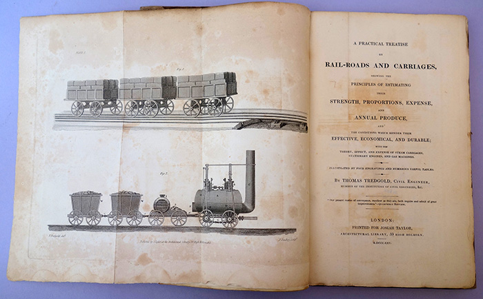 A practical treatise on rail-roads and carriages. Thomas Tredgold.