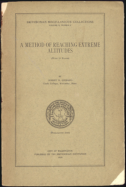 A method of reaching extreme altitudes. Horblit copy. Robert Goddard.