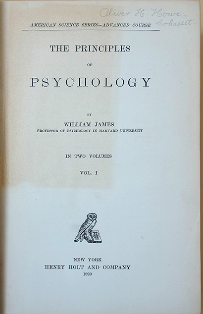 The principles of psychology. William James.