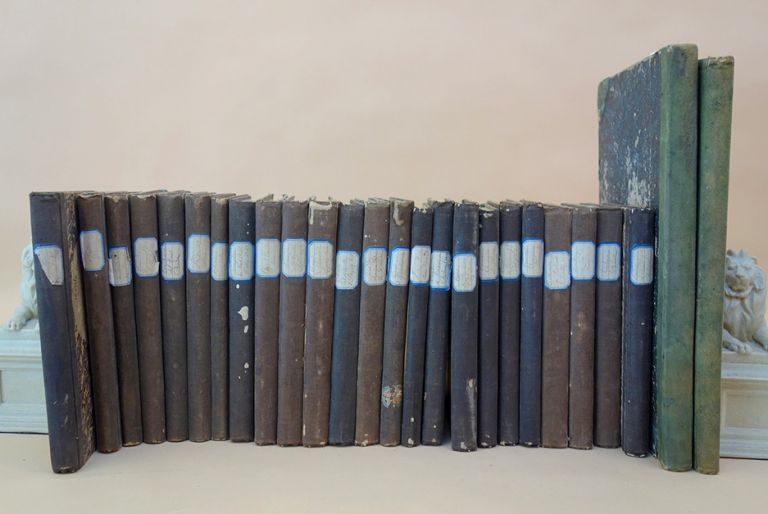 24 notebooks plus 2 ledgers relating to his scientific education at l'Ecole Centrale. Alphonse Poitevin.
