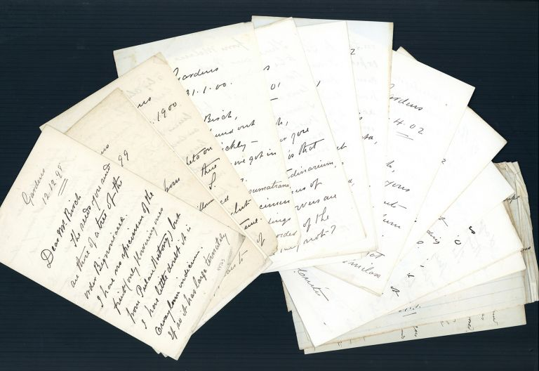 Archive of 21 letters plus other materials. Charles Curtis, Walter Fox.