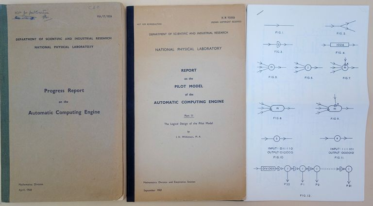 Confidential. Progress report on the Automatic Computing Engine. WITH: Report on the pilot model of the Automatic Computing Engine. Part II. The logical design of the pilot model. James H. Wilkinson.