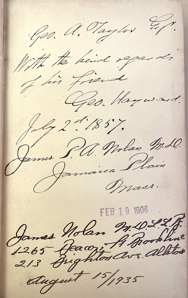 Surgical reports and miscellaneous papers on medical subjects. Inscribed copy. George Hayward.