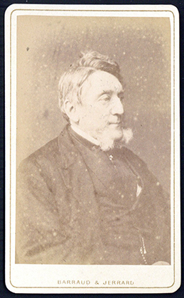 Carte-de-visite photograph portrait by Barraud & Jerrard, signed and dated by Taylor on the verso. Alfred Swaine Taylor.
