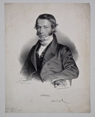 Portrait of Andral, lithograph by Maurer. 29x22.5cm. Andral