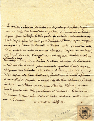 "2 consilia for M. de Landev[?], 1 & 1.5 pp., 4to. One dated Sept. 2"", 1817. Also fragment of..."