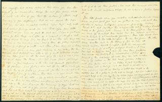 "Important and long Autograph letter signed to Thos. H. Burder, ""My dearest Friend"""