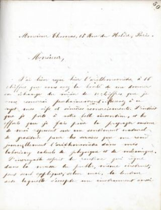 Crush-paper copy of book of his correspondence from Sept. 1862 to July 1865 (c. 600 letters