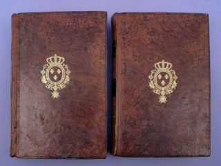 Essai de statique chimique. 2v. Arms of French King on upper covers. Very fine