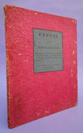 Expose des temperatures. . . .Inscribed to Giovanni Fabroni