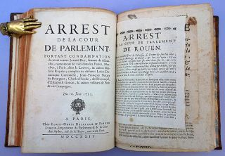 Collection of 138 arrests and memoires, of which 76 concern Louis Dominique Bourguignon, called Cartouche