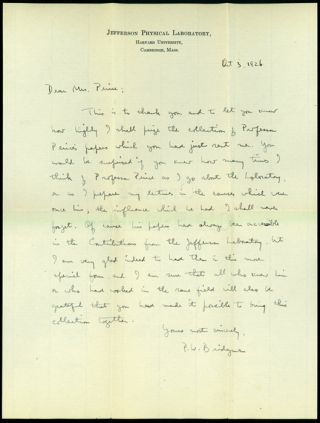 2 autograph letters signed to Mrs. Benjamin Osgood Peirce