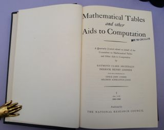 Mathematical tables and other aids to computation. Vols. 1-14. MTAC