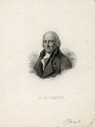 Engraved portrait, by E. Conquy after Girard. J. D' Arcet