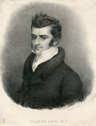 Lithograph Portrait by M. Gauci after P. W. Wilkins. Clarke Abel