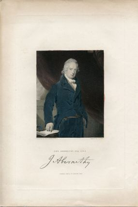 Engraved Portrait by J. Cochran after Thomas Lawrence. John Abernethy