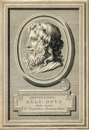 Auli Opus Sarde incisum Ex Dactytiotheca Strozziana Romae. Engraved Portrait by B. Picart....