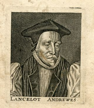 Engraved Portrait. Lancelot Bishop of Winchester Andrewes