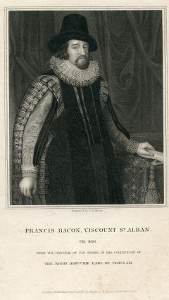 Viscount St. Alban. Engraved Portrait by J. Cochran after Van Somer. Francis Bacon