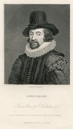Engraved Portrait by J. Posselwhite after J. Houbraken. Francis Bacon