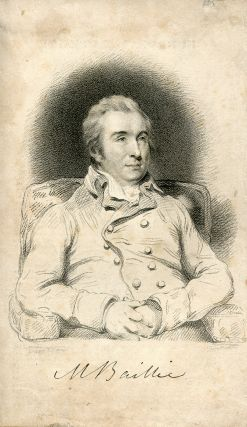 Engraved Portrait by Thomson after Hoppner. Matthew Baillie