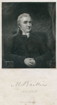 Engraved Portrait by H. Cook after J. Hoppner. Matthew Baillie