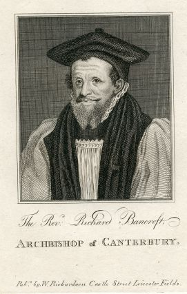Archbishop of Canterbury. Engraved Portrait. Richard Bancroft