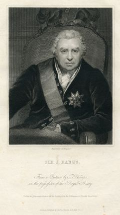 Engraved Portrait by C. E. Wagstaff. Joseph Banks