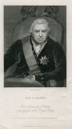 Engraved Portrait by C.E. Wagstaff. Joseph Banks