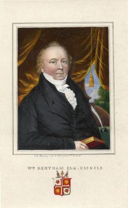 Hand-Colored Lithograph Portrait by G. E. Madely. William Bentham